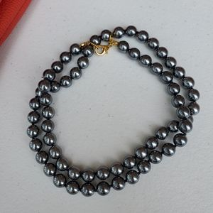 Joan Rivers Faux gray pearls necklace
